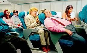 tipo gordo en el avion